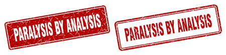 paralysis by analysis square stamp. paralysis by analysis grunge sign set Vector Illustration