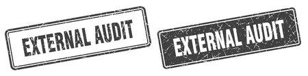 external audit square stamp. external audit grunge sign set