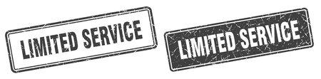 limited service square stamp. limited service grunge sign set