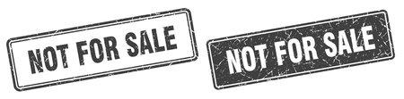 not for sale square stamp. not for sale grunge sign set 일러스트