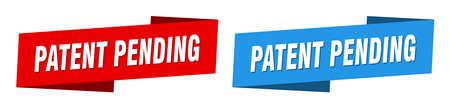 patent pending ribbon label sign set. patent pending banner