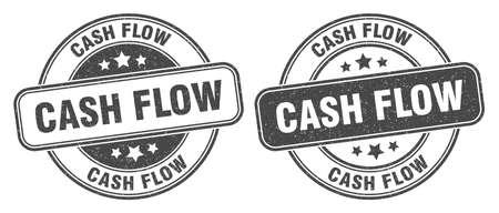 cash flow stamp. cash flow sign. round grunge label