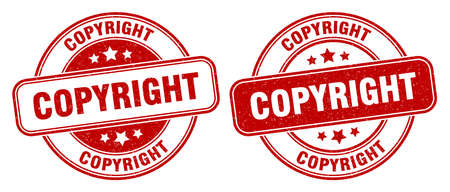 copyright stamp. copyright sign. round grunge label