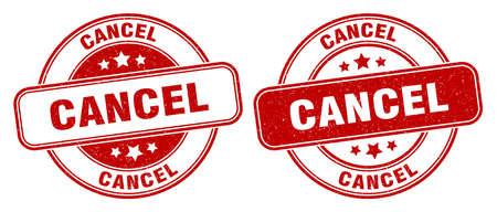 cancel stamp. cancel sign. round grunge label