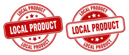 local product stamp. local product sign. round grunge label 矢量图像