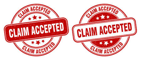 claim accepted stamp. claim accepted sign. round grunge label 矢量图像