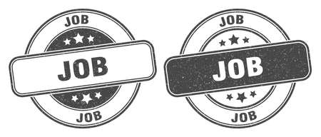 job stamp. job sign. round grunge label