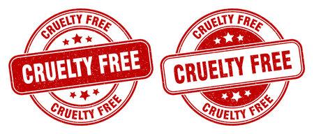 cruelty free stamp. cruelty free sign. round grunge label