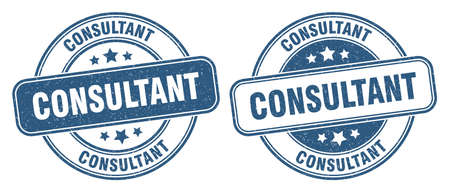consultant stamp. consultant sign. round grunge label
