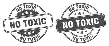 no toxic stamp. no toxic sign. round grunge label