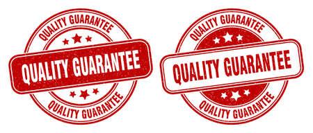 quality guarantee stamp. quality guarantee sign. round grunge label 矢量图像