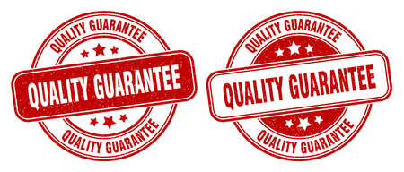 quality guarantee stamp. quality guarantee sign. round grunge label Illustration