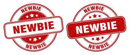 newbie stamp. newbie sign. round grunge label