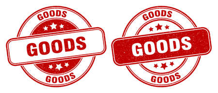 goods stamp. goods sign. round grunge label