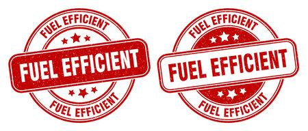 fuel efficient stamp. fuel efficient sign. round grunge label