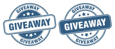 giveaway stamp. giveaway sign. round grunge label