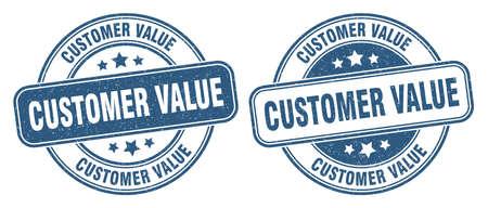 customer value stamp. customer value sign. round grunge label Illustration