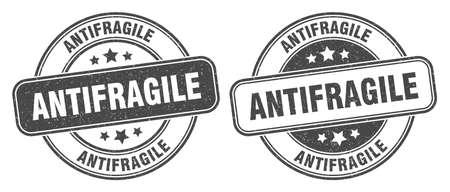 antifragile stamp. antifragile sign. round grunge label