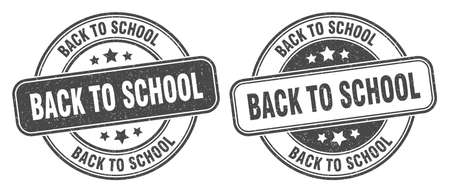 back to school stamp. back to school sign. round grunge label