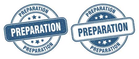 preparation stamp. preparation sign. round grunge label