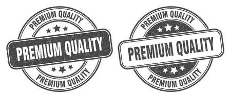 premium quality stamp. premium quality sign. round grunge label