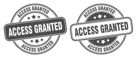 access granted stamp. access granted sign. round grunge label