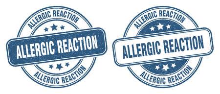 allergic reaction stamp. allergic reaction sign. round grunge label