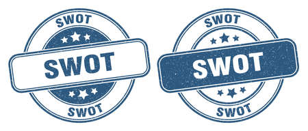 swot stamp. swot sign. round grunge label