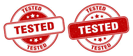 tested stamp. tested sign. round grunge label Illustration