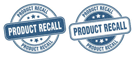 product recall stamp. product recall sign. round grunge label