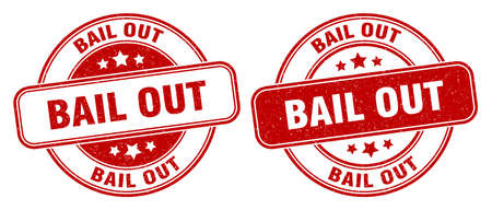 bail out stamp. bail out sign. round grunge label