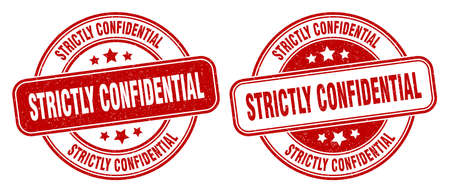 strictly confidential stamp. strictly confidential sign. round grunge label