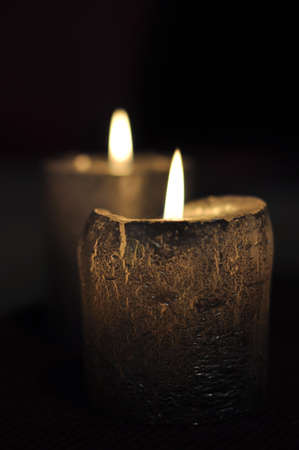 Candels  of dark photo