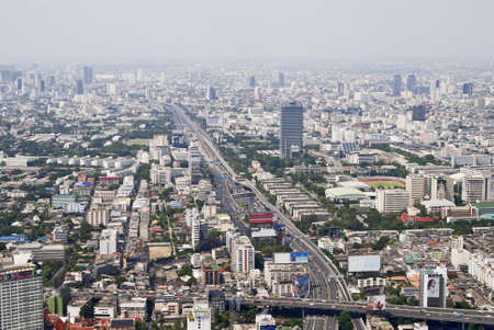 view of Bangkok city from a height
