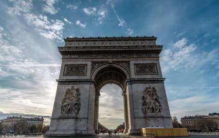 The Arc de Triomphe in Paris in antique style photo