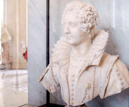 ancient philosophy: Sculpture of Maria Barberini Duglioli by Giuliano Finelli in Louvre Editorial