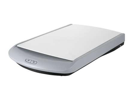 Weiße Scanner mit einem weißen Hintergrund