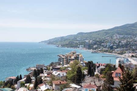 Panorama von Jalta in einem guten Sommer Lizenzfreie Bilder
