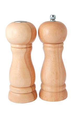 salt and pepper wooden ea white close-up Stock Photo - 11311384