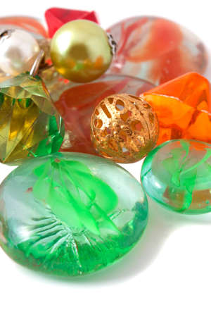 glass marbles different color closeup photo
