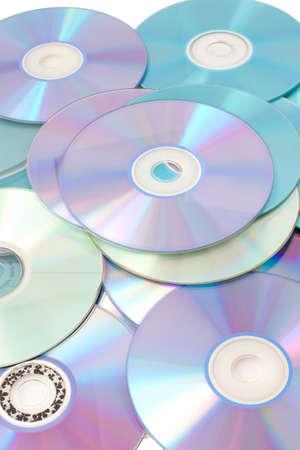 Eine Menge CDs zu nahe zu speichern Lizenzfreie Bilder