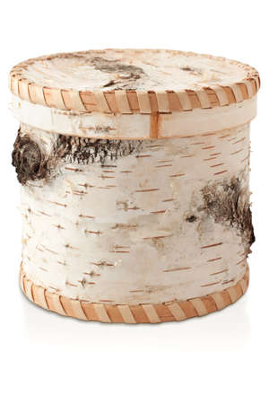 A beautiful box of birch bark as the birch trunk