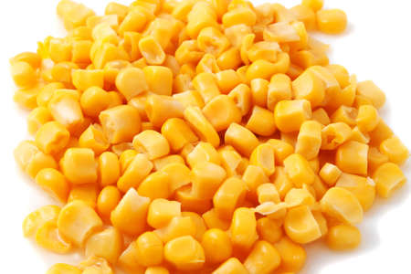 canned corn, large on a white background