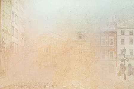 Abstract background of the old town photo