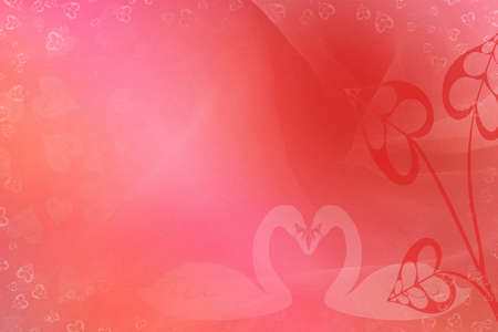 Background Saint Valentine with swans and hearts Stok Fotoğraf