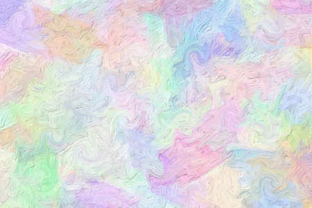 Abstract colorful brush strokes of unusual shape photo