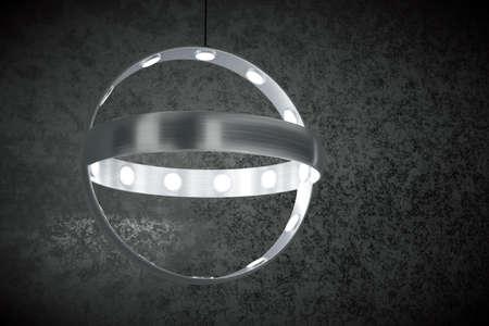 Modern hanging lamp-chandelier 3d model photo