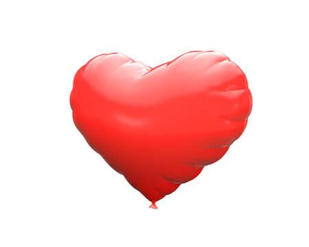 plastic heart: plastic heart isolated 3d model