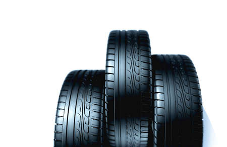 Rubber tires 3d model photo