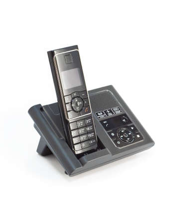 cordless phone: Black cordless phone isolated